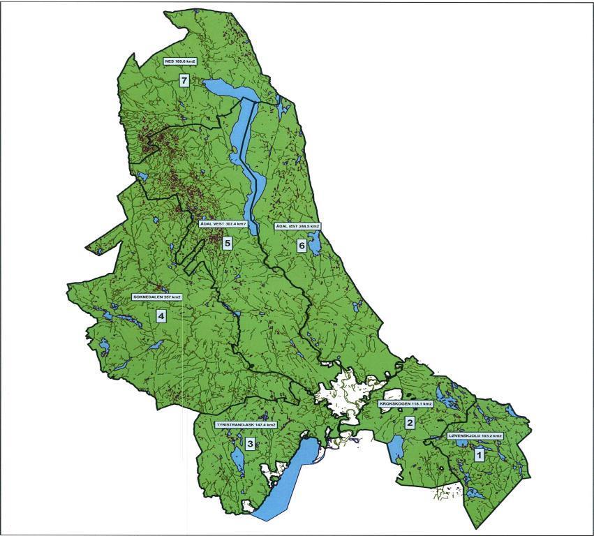 kart over ringerike Hjort   Ådal Vest ⋆ Vikerfjell.com kart over ringerike